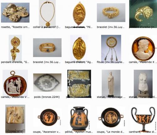 don Luynes capture d'une page du catalogue Médailles et antiques