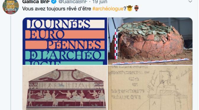 Journées européennes de l'archéologie 19-21 juin 2020