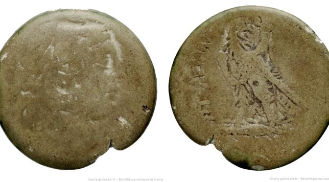 Deux monnaies ptolémaiques en «faïence égyptienne» à la BnF