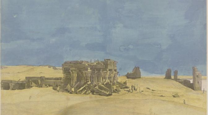 Conférence lundi 19 avril 12h en ligne – Les trésors de la BnF: Les Dessins pour l'ouvrage de la commission d'Égypte